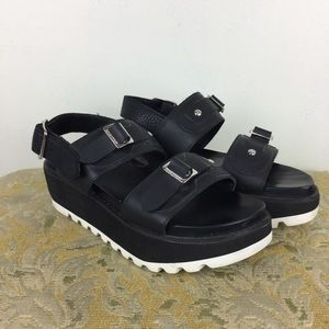 Hunter Original Leather Mid Platform Sandal